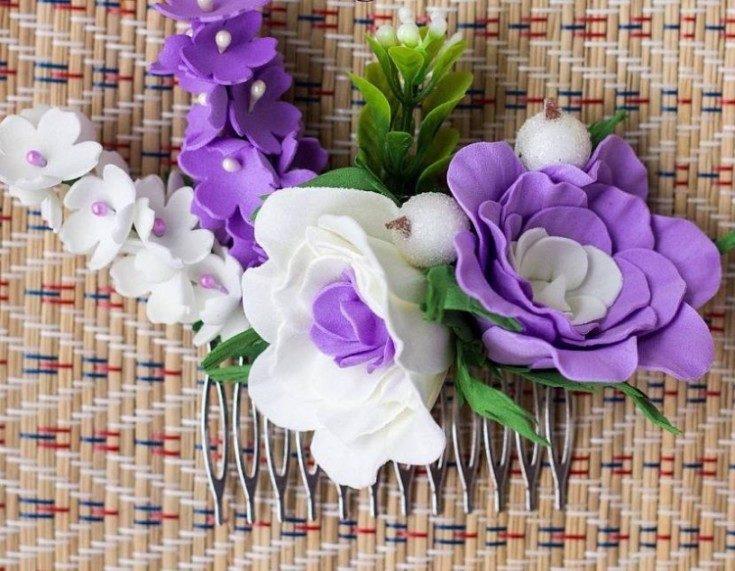 Цветы из фоамирана своими руками 5