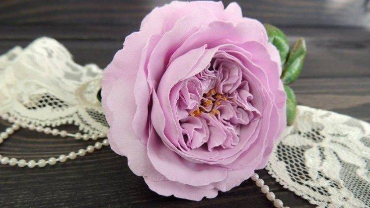 Цветы из фоамирана своими руками 6