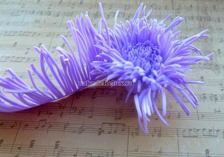 Цветы из фоамирана своими руками 74