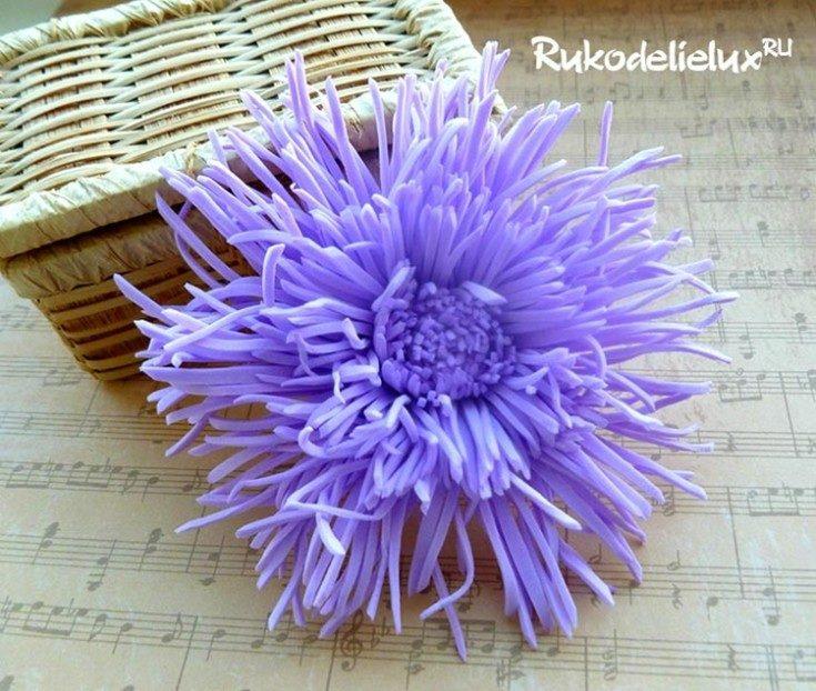 Цветы из фоамирана своими руками 75