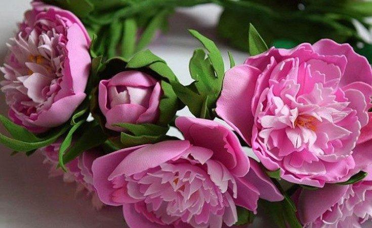Цветы из фоамирана своими руками 8