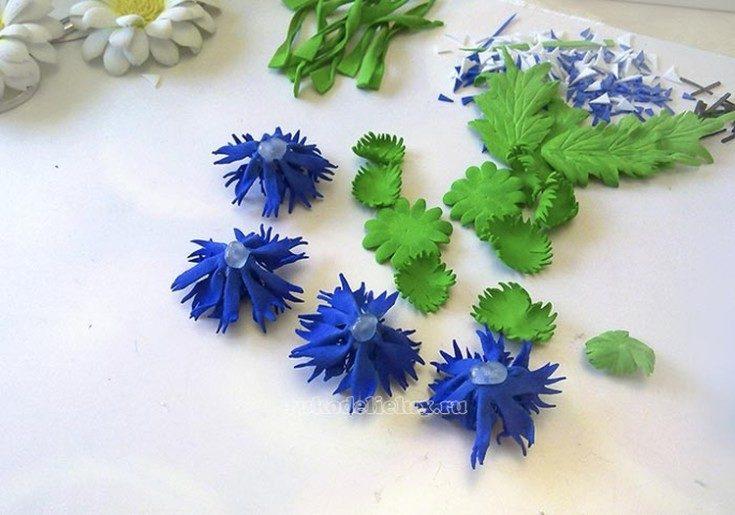 Цветы из фоамирана своими руками 86