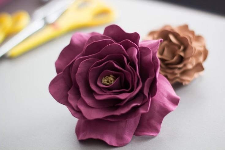 Цветы из фоамирана своими руками 89