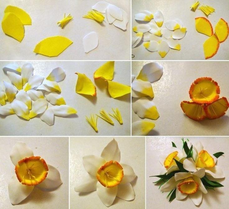 Цветы из фоамирана своими руками 90