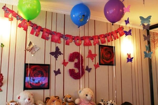 Фотозона на годик девочке в квартире 25