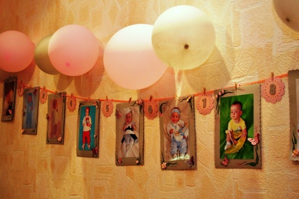 Фотозона на годик девочке в квартире 28
